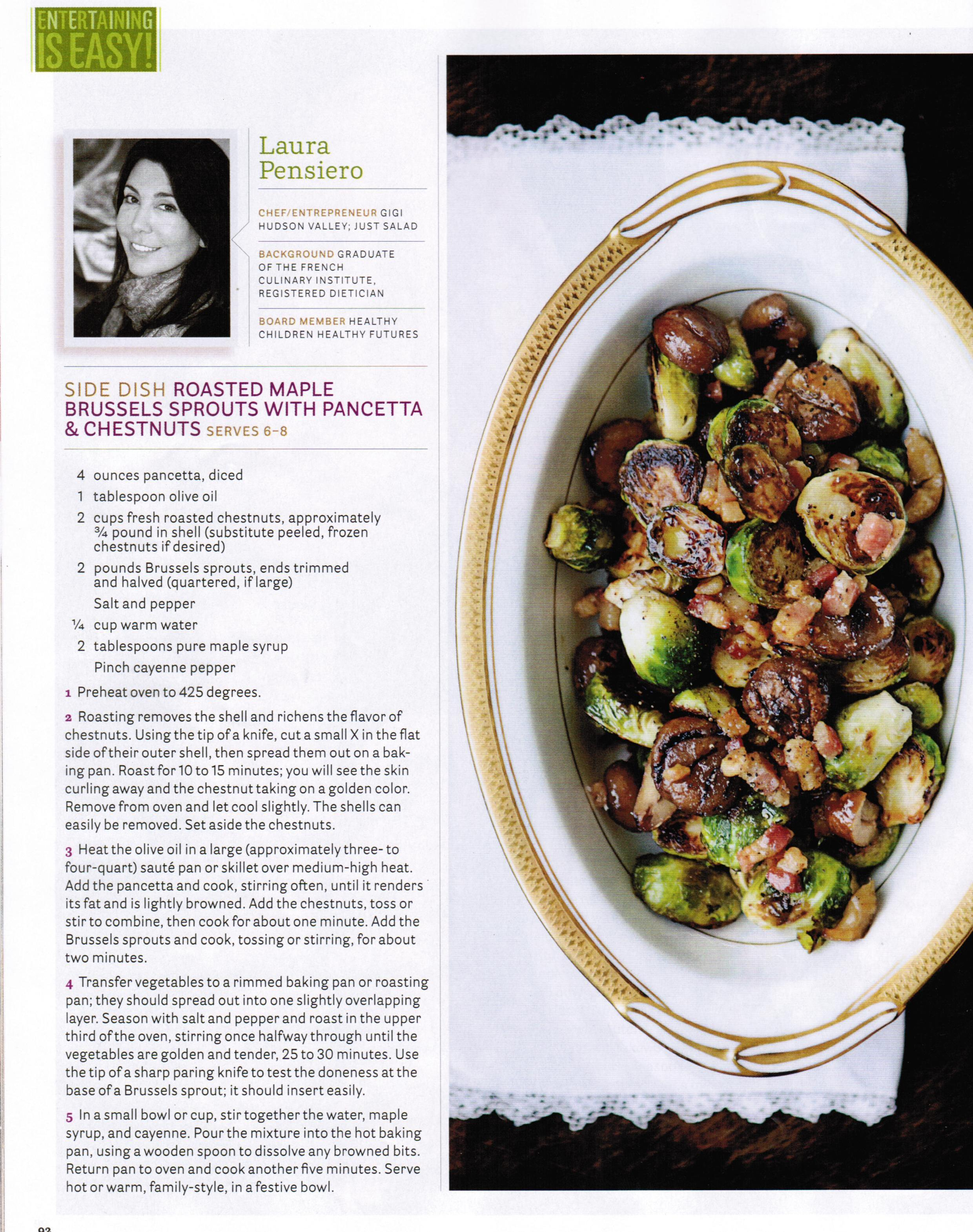 Roasted Maple Brussel Sprouts with Pancetta and Chestnuts | Gigi ...