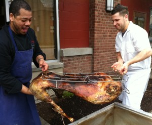 Ana Fors proudly celebrated her daughter's West Point graduation with a Cuban pig roast courtesy of Gigi Catering.